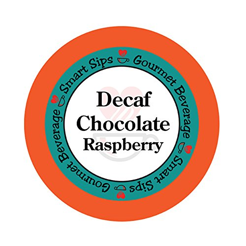 - Smart Sips, Decaf Chocolate Raspberry Flavored Coffee, 24 Count for All Keurig K-cup Machines, Decaffeinated Flavored Coffee