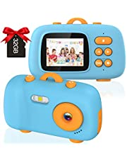 $29 » Kids Camera, 8MP 1080P Kids Ditital Camera with 2inch IPS Screen, Kids Video Camera Recorder with 32GB Micro SD Card, Best Gifts for Kids Age 10 for Boys and Girls