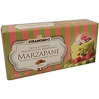 STRAMONDO Mazapán verde 250gr, pasta de almendras blandas, fácil de modelar, adecuado para la realización de frutas de…