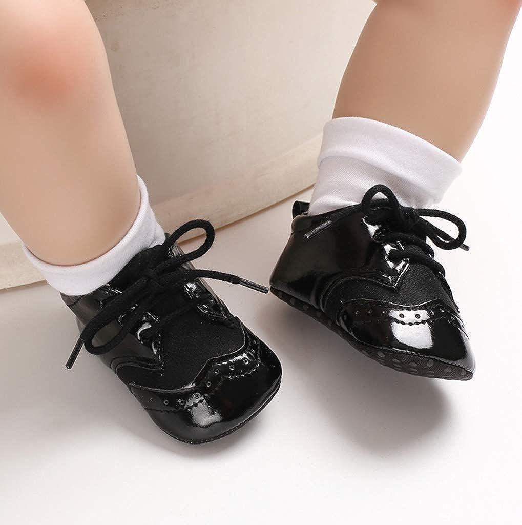 Lanhui Newborn Baby Shoes Girls Boy Frenulum Prewalker Non-Slip Soft Sole Gym Shoes
