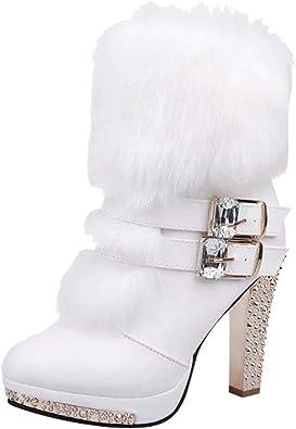 Chaussures de mariée simili cuir petit talon avec boucle Pierres haute qualité l-10