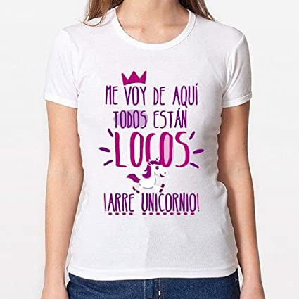 Positivos Camisetas Mujer/Chica - diseño Original Arre Unicornio! - XL