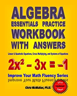 Amazon mcdougal littel algebra 1 practice workbook holt algebra essentials practice workbook with answers linear quadratic equations cross multiplying and fandeluxe Images
