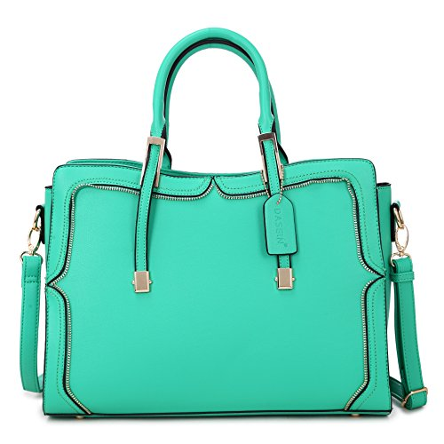 Top Purse Handle Vegan Satchel Structured 8172 Zip Leather Crossbody Bag Fashion Handbag Shoulder green tpUtqvcrz