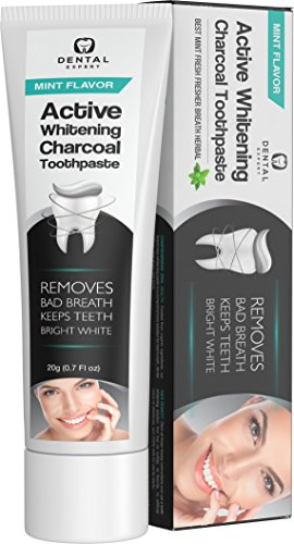 Dental Expert Activated Charcoal Teeth Whitening Toothpaste - Mint Flavor - (0.7 fl oz) by Dental Expert (Image #3)