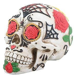 Amazon.com: Day of the Dead Dod Tattoo Sugar Skull Head Display Decoration: Home & Kitchen