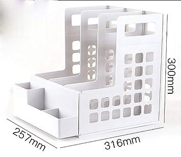 Carpetas Estantería para archivadores estantería simple mesa para estudiantes carpeta de almacenamiento estante para libros soporte de escritorio escritorio ...