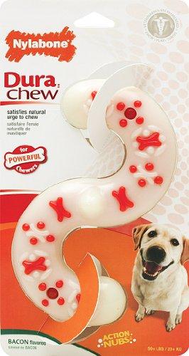 Nylabone Dura Chew Souper Bacon Flavored S Bone Dog Chew Toy