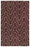 Revolution Collection Hand Tufted Plum Rug (5' x 7'9')