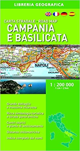 Cartina Campania Grande.Amazon It Carta Stradale Campania E Basilicata 1 200 000 Aa Vv Libri