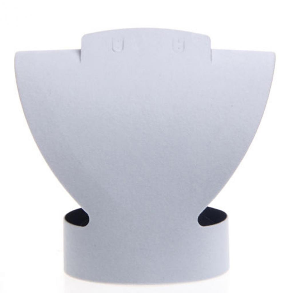 Geshiglobal Collana orecchino busto collo forma plastica espositore vetrina White