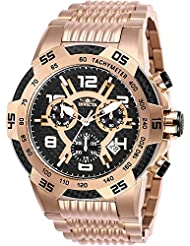 Invicta Mens 25287 Speedway Quartz Multifunction Rose Gold Black Dial Watch