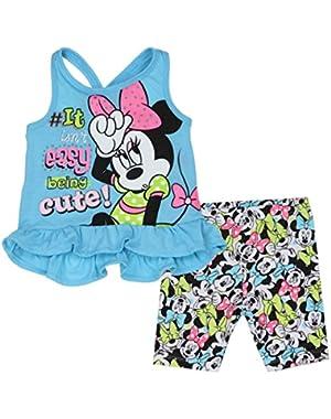 Minnie Mouse Newborn Infant Girls Biker Short Set