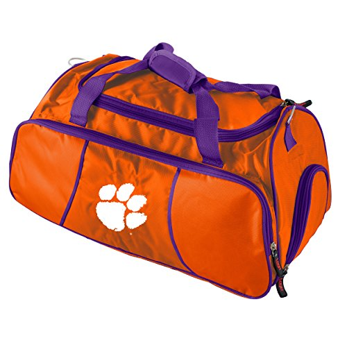 Logo Brands NCAA Clemson Tigers Athletic Duffel (Ncaa Gym Bag)