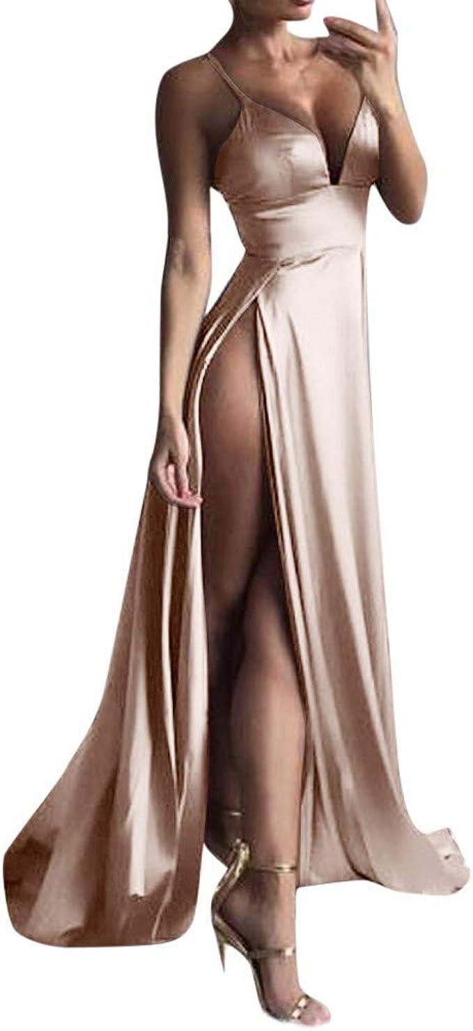Vestiti Eleganti Donna Lunghi.Frauit Vestiti Donna Lunghi Scollo A V Abito Da Sposa Principessa