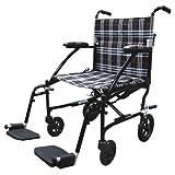 Drive Medical Fly Lite Ultra Lightweight Transport Wheelchair, Black Frame, 19″, Health Care Stuffs