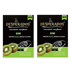 DESPERADOS Kiwi Herbal Hookah Flavour -Set of 2