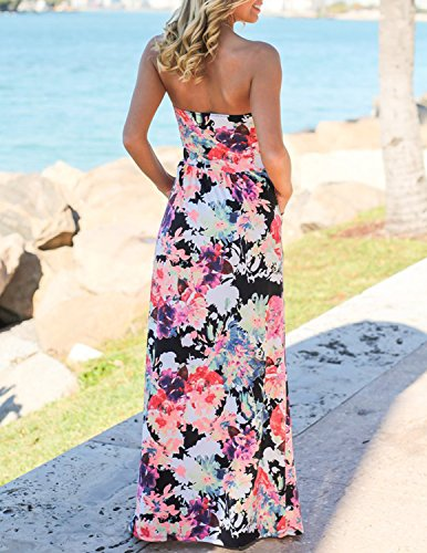 Cocktail Floral Long Wrapped Carinacoco Color With Dresses Dress 3 Evening C Printed Party Women Summer Vacation Beach Chest xIx0zHt