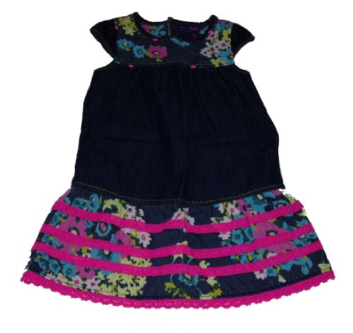 Genuine Kids Made By Oshkosh Toddler Girls Flowered Berlin Wash Dress (2T)