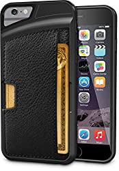 iPhone 6 Wallet Case - Q Card Case for iPhone 6 (4.7 inches) by CM4 - Ultra Slim Protective Carrying Case (Black Onyx)