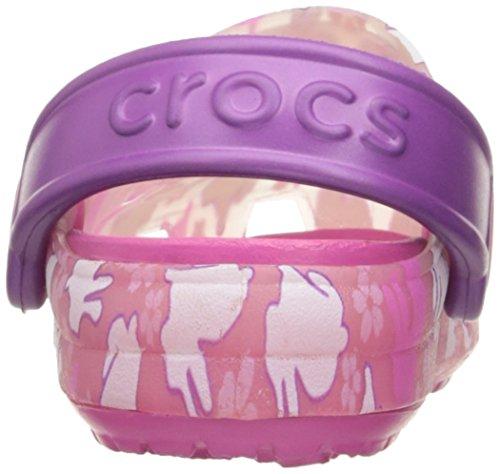 Crocs - Mädchen Chameleons Hase Clog Carnation/Fuchsia