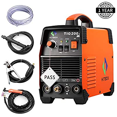 200 amp Portable TIG Welding Machine High Frequency 220V TIG MMA 200 with TIG Stick IGBT Inverter Welder
