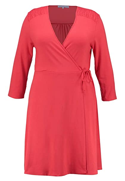 dd75981ef098 Anna Field Curvy Abito in Jersey con Cache Coeur - Vestito da Donna  Elegante - Vestito
