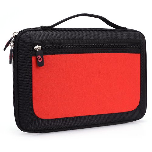- Kroo Slim 11-Inch Tablet Case with Carrying Handle - Red (ND11HDR1-6490)
