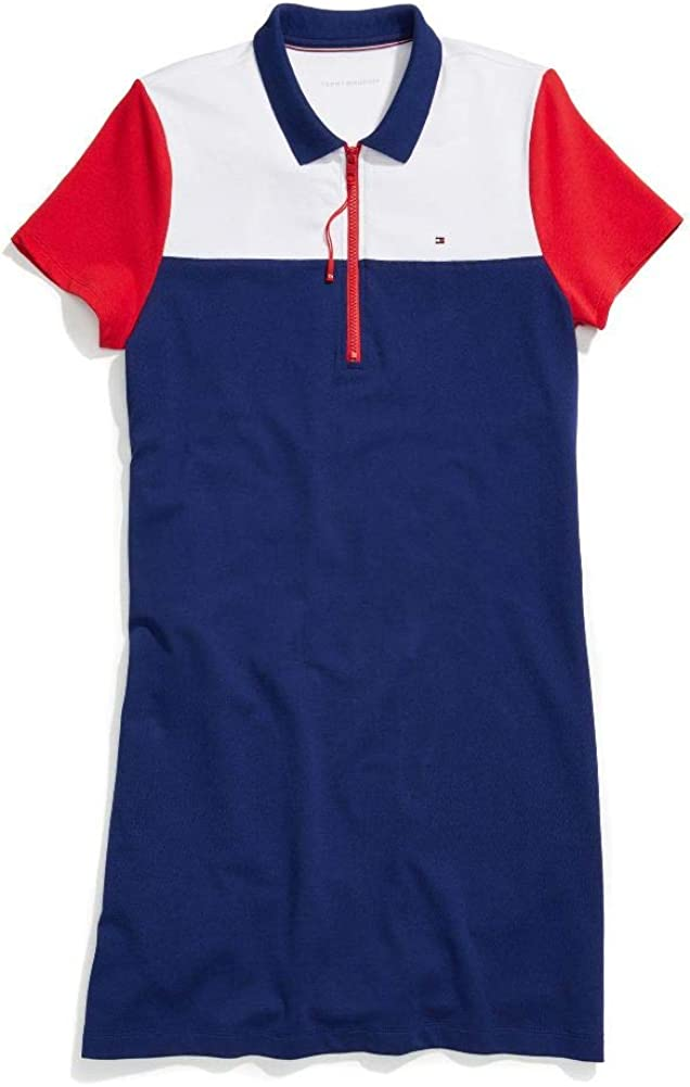 Tommy Hilfiger Women's Adaptive Polo Dress with Extended Zipper Pull
