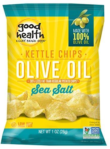 Good Health Olive Oil Potato Chips, Sea Salt, 1-Ounce (Pack of 24) ()