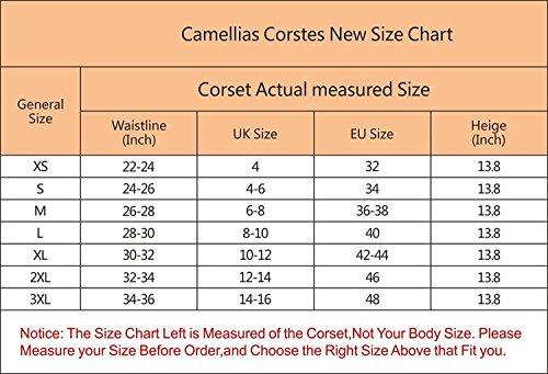 Camellias women s latex high waist trainer corset underbust