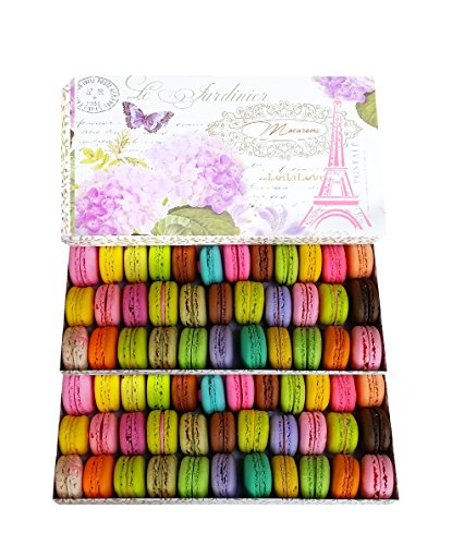 LeilaLove Macarons -Gourmandise 60 counts serves 30 to 60 person