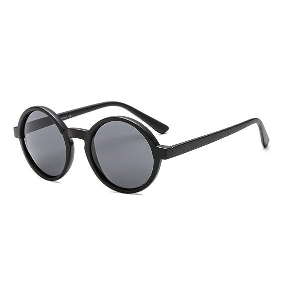SUERTREE polarizado redondo pequeñas gafas de sol mujeres hombres Vintage Shades moda Retro 80s90s Gafas UV400 JH9006: Amazon.es: Ropa y accesorios
