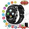 Bluetooth Smart Watch With Camera Waterproof Smartwatch Touch Screen Phone Unlocked Watch Smart Wrist Watch Cell Phone Watches SIM Card Slot For Android Phones Samsung IOS Iphone 7 Plus 6S