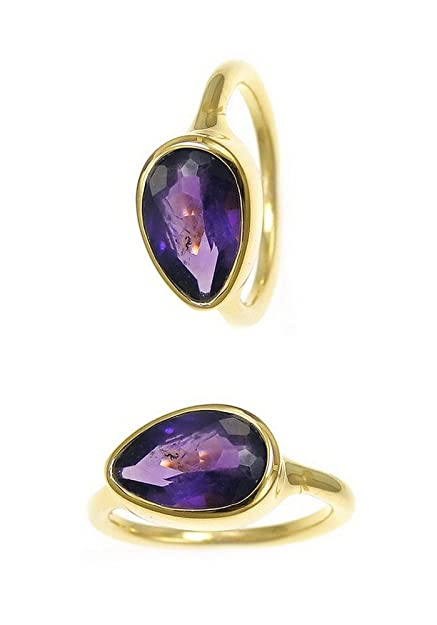 Nathis Gemstone Stacking Ring With Amethyst