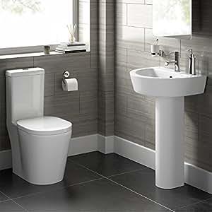 Moderno blanco lavabo wc juego de cisterna de inodoro y - Cisterna bano ...
