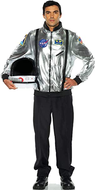 Astronaut Boys Costume NASA Child Silver Space Jumpsuit Underwraps