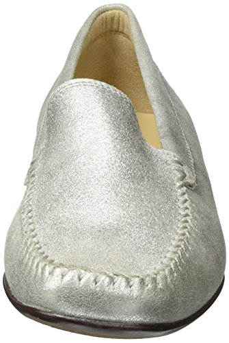 Sioux Women's Campina Moccasins, Grey (Linen 002), 4.5 UK 37 2/3 EU