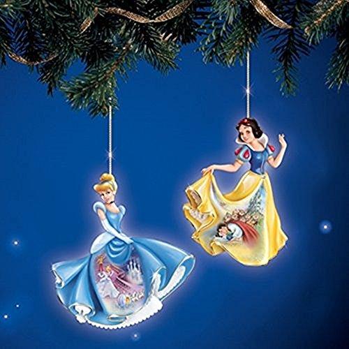 The Bradford Exchange Disney Elegant Princesses Ornaments Set #1 Cinderella and Snow - Kinkade Decoration Christmas
