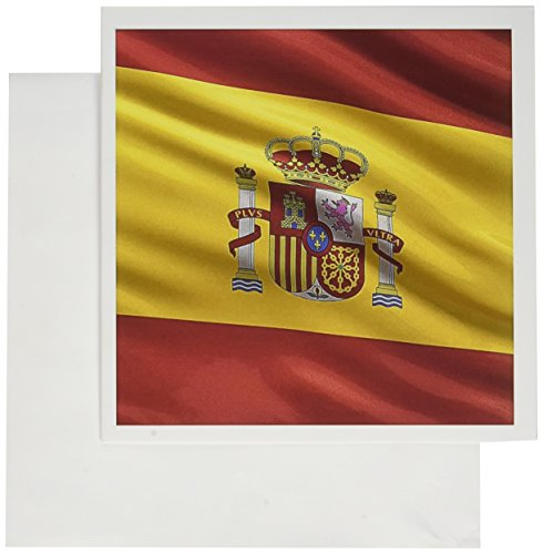 - 3dRose Greeting Cards, 6 x 6 Inches, Pack of 12, Spanish Flag Coat of Arms National Country (gc_154975_2)