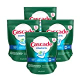 Health & Personal Care : Cascade Complete ActionPacs Dishwasher Detergent, Fresh Scent, 92ct, Tub Refill Bags