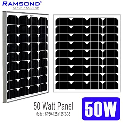 Best Cheap Deal for Ramsond 50 Watt Solar Panel 50w W Monocrystalline Photovoltaic PV Solar Panel Module 12V Battery Charging Charger RV 25 YEAR from Ramsond - Free 2 Day Shipping Available