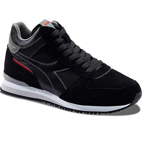 80012 Basso Uomo Mid Collo NERO Sneaker Malone Diadora a S TwU48