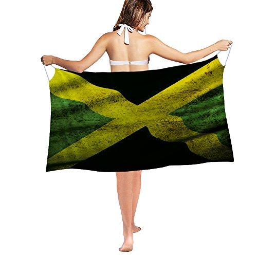 Nakgn Swimwear Cover up Beach Sarong Wrap Jamaica Flag Jamaican Scarf ()