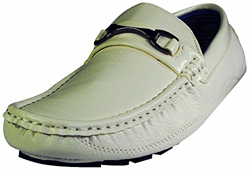 NORTY Casual Moc Moda Italy Shoes Boat Driving Loafers Fashion White Mens 1q1wrXA