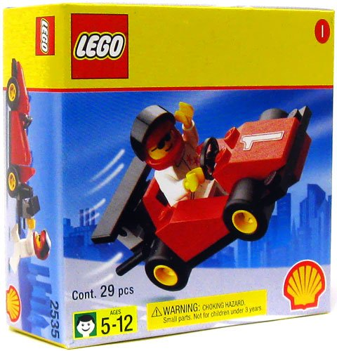 LEGO System Exclusive Shell Station Mini Figure Set #2535 Race (Interlocking Rings Stations)