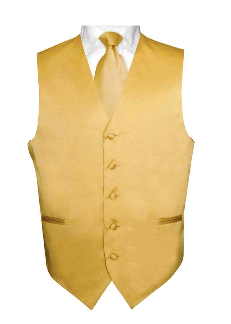 Brand Q 3pc Vest Set-New Gold-2XL