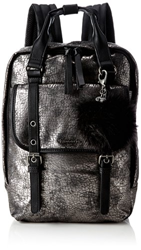 Tamaris Leticia Backpack - Borse a zainetto Donna, Grau (Pewter Comb), 9x34.5x24 cm (B x H T)