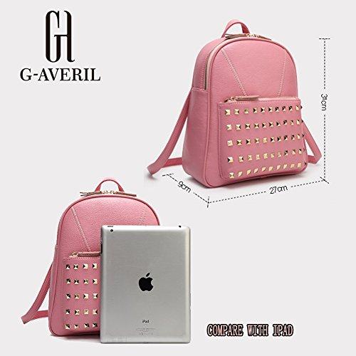 G-AVERIL GA1073-P - Bolso mochila  para mujer rosa rosa azul marino