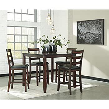 Signature Design by Ashley D385-223 Coviar Dining Table Set Brown  sc 1 st  Amazon.com & Amazon.com - Signature Design by Ashley D385-223 Coviar Dining Table ...